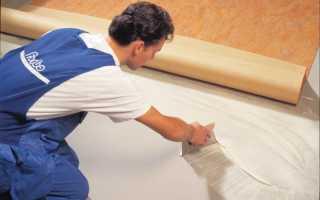Каким клеем приклеить линолеум к бетонному полу?