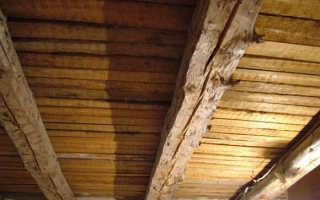 Обшивка гипсокартоном потолка по деревянным балкам