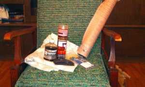 Как переделать старое кресло с деревянными подлокотниками?
