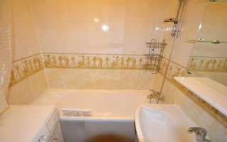 Панель ПВХ для ванной комнаты как клеить?