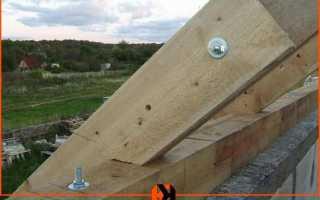 Крепление мауэрлата к стене из керамических блоков