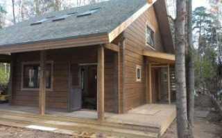 Покраска деревянного пола на даче