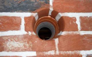 Вывод вытяжки через отверстие в стене
