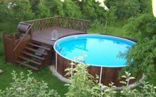 Лестница для бассейна своими руками из стремянки