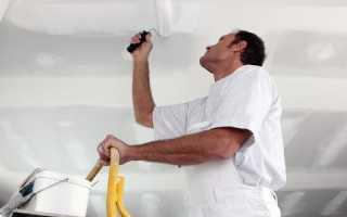 Покраска потолка Снежкой своими руками