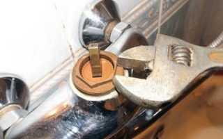 Починка смесителя в ванной