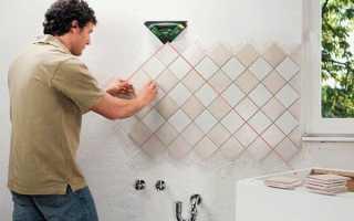 Состав работ при облицовке стен керамической плиткой