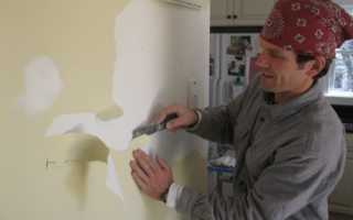 Как снять фасадную краску со стен?