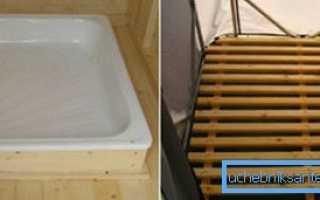Как установить душевой поддон на деревянный пол?