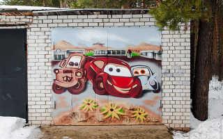 Чем покрасить гаражные ворота снаружи?