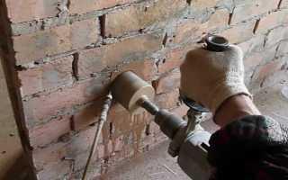 Как закрепить подрозетник в кирпичной стене?