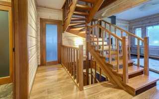 Самодельная деревянная лестница на второй этаж