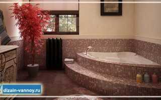 Как встроить ванну в подиум своими руками?