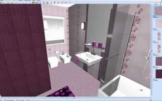 Как разложить плитку в ванной программа?