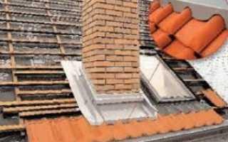 Отделка дымохода на крыше из металлочерепицы