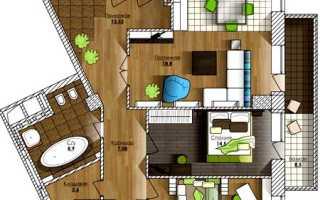 Перепланировка трехкомнатной квартиры с длинным коридором