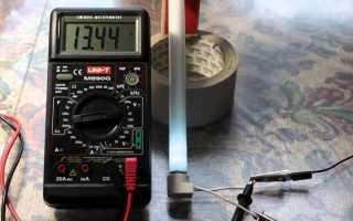 Как проверить дроссель лампы дневного света мультиметром?