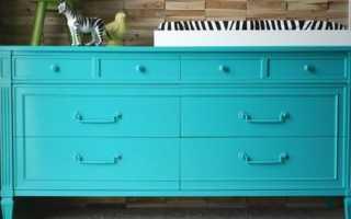 Покрасить полированный шкаф акриловой краской