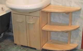 Столик под раковину в ванную своими руками