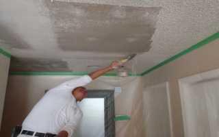 Как снять побелку с потолка своими руками?