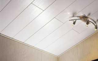Как установить споты на потолке из панелей?