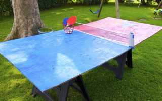Самодельный стол для тенниса