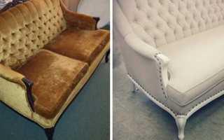 Как отреставрировать старый диван своими руками?