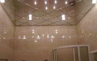 Потолочная панель зеркального типа