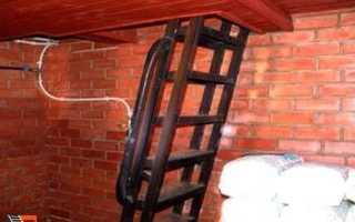 Лестница в погреб из профильной трубы