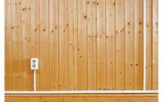 Монтаж розеток на бревенчатых стенах
