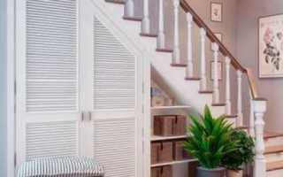 Забежная лестница боковой шкаф