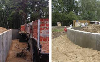Как рассчитать подпорную стенку из бетона?