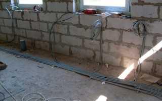Прокладка кабеля в стяжке пола ПУЭ
