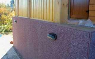 Отделка фундамента дома фасадными панелями на ЦСП