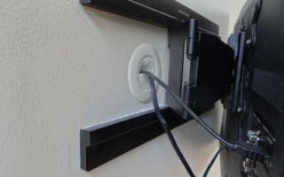 Как спрятать телевизионный кабель на стене?