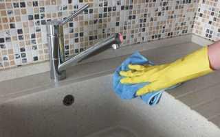 Как почистить керамическую раковину на кухне?