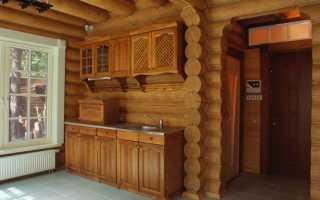Отделка бревенчатых стен внутри дома