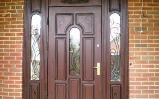 Обшить металлическую дверь внутри